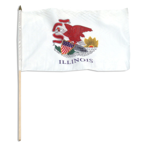 Illinois flag 12 x 18 inch