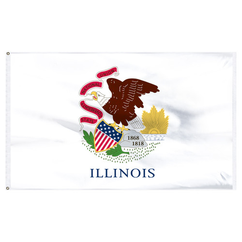 Illinois 12ft x 18ft Nylon Flag