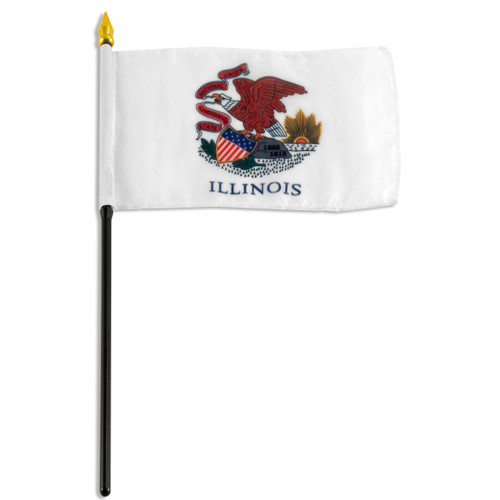Illinois flag 4 x 6 inch