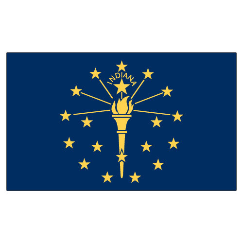 Indiana 3ft x 5ft Printed Polyester Flag