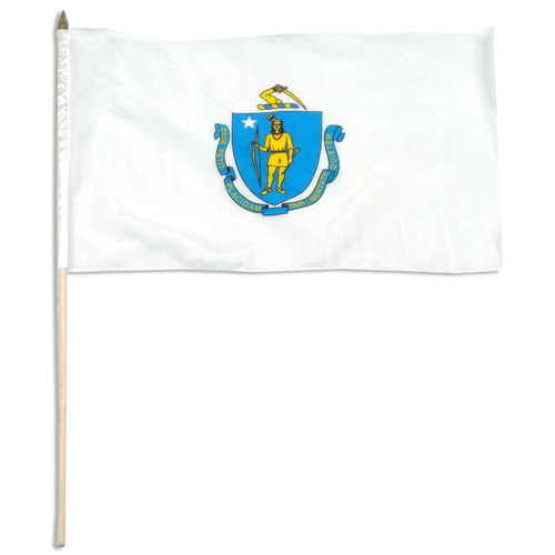 Massachusetts flag 12 x 18 inch