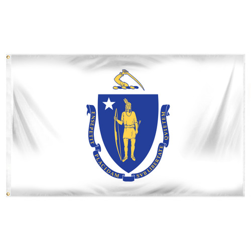 Massachusetts 3ft x 5ft Printed Polyester Flag