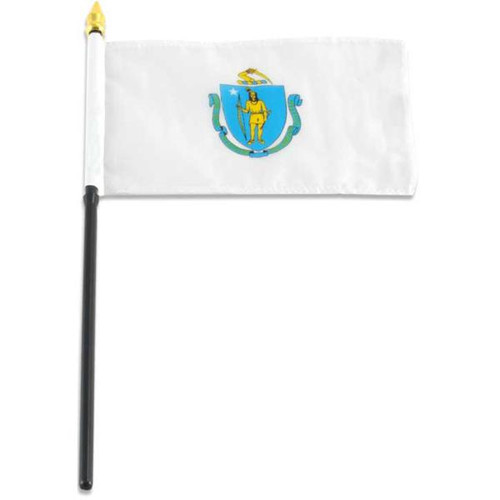 Massachusetts flag 4 x 6 inch