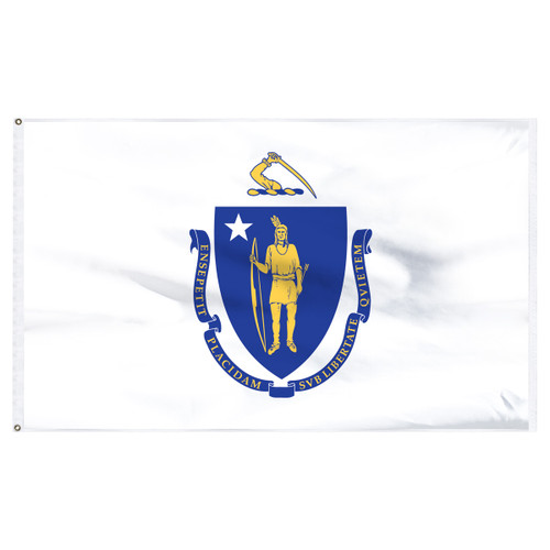 Massachusetts Flag 5 x 8 Feet Nylon