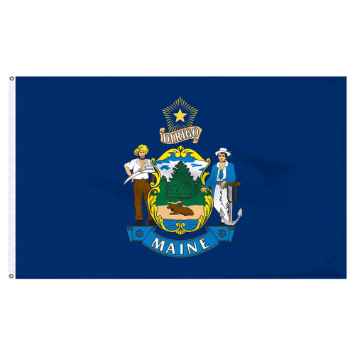 Maine Flag 5 x 8 Feet Nylon