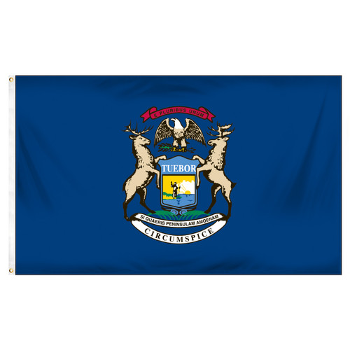 Michigan 5ft x 8ft Sewn Polyester Flag