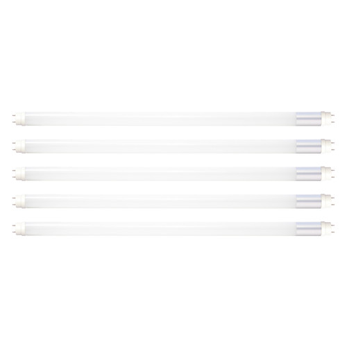 Case of 5 - T8 4ft. LED Tube - 12W - 1800 Lumens - Direct Wire - Double Ended Power