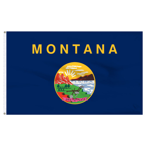 Montana Flag 5 x 8 Feet Nylon