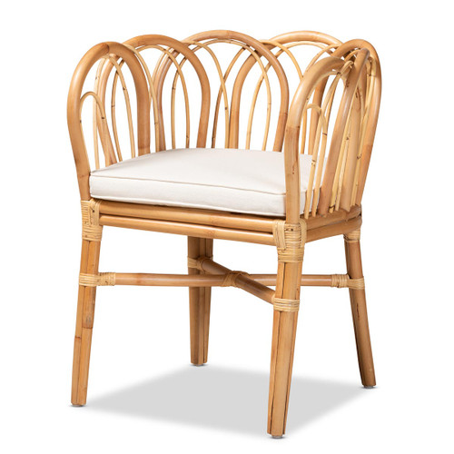 Baxton Studio Melody Modern and Contemporary Natural Finished Rattan Chair
