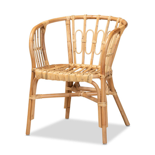 Baxton Studio Luxio Modern and Contemporary Natural Finished Rattan Chair