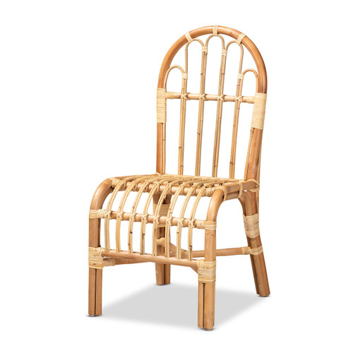 Baxton Studio Athena Modern and Contemporary Natural Finished Rattan Chair