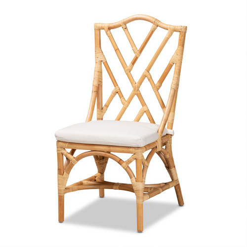 Baxton Studio Sonia Modern and Contemporary Natural Finished Rattan Chair