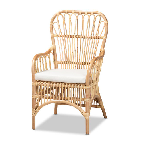 Baxton Studio Aya Modern and Contemporary Natural Finished Rattan Armchair