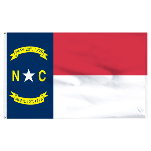 North Carolina Flag 5 x 8 Feet Nylon