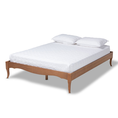 Baxton Studio Marieke Vintage French Inspired Ash Wanut Finished Queen Size Wood Bed Frame