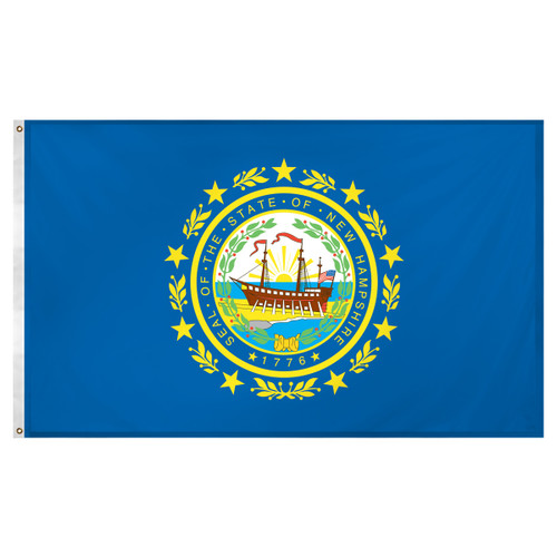 New Hampshire flag 3 x 5 feet Super Knit polyester