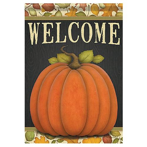Carson Fall Garden Flag - Give Thanks Pumpkin