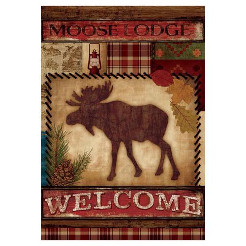 Fall Garden Flag - Welcome Moose