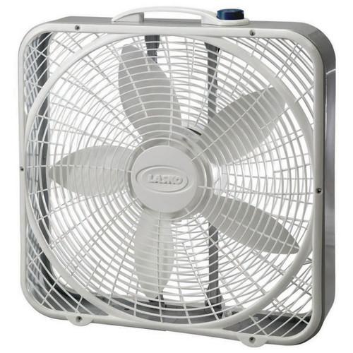 "Lasko 20"" White 3-Speed Premium Box Fan - 3723"