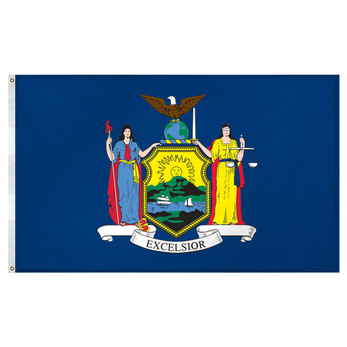 New York flag 3 x 5 feet Super Knit polyester