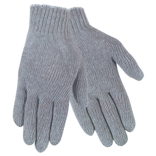 Memphis Gray Cotton Poly String Knit Gloves - Single Pair