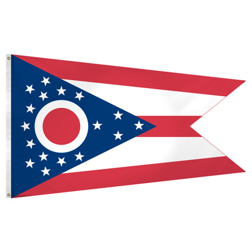 Ohio flag 3 x 5 feet Super Knit polyester