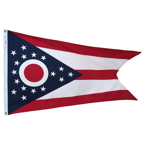 Ohio 3ft x 5ft Polyester Flag