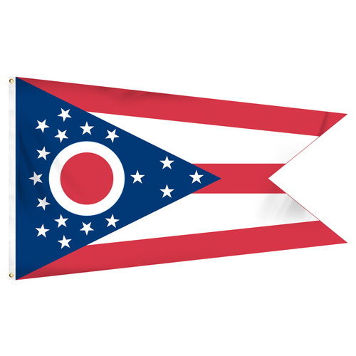 Ohio 5ft x 8ft Spun Heavy Duty Polyester Flag