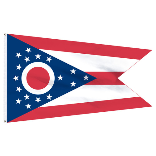 Ohio 8ft x 12ft Nylon Flag
