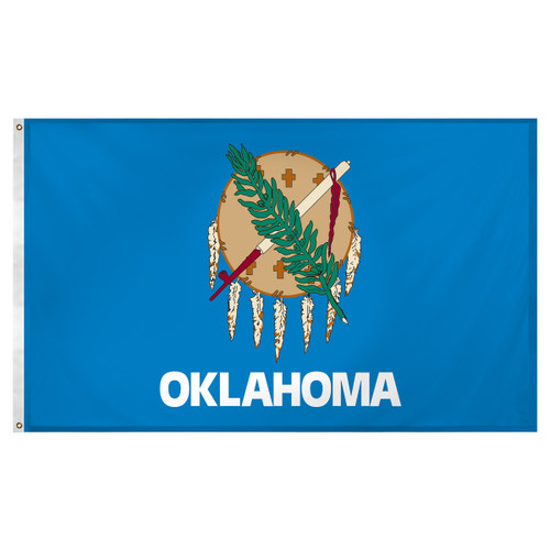Oklahoma flag 3 x 5 feet Super Knit polyester