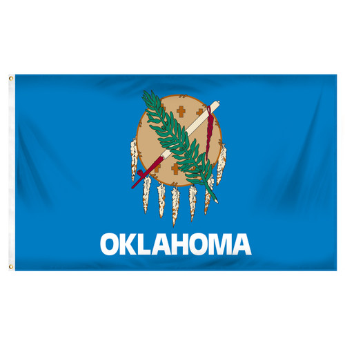 Oklahoma Spun Heavy Duty Polyester Flag 3ft x 5ft