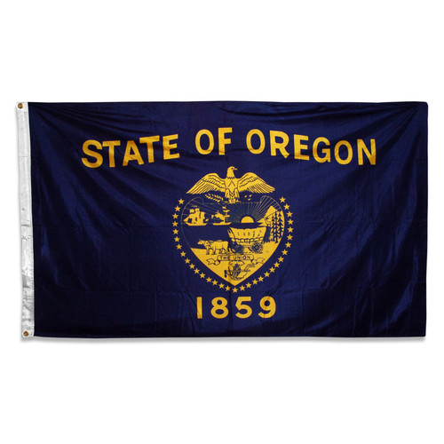 Oregon flag 3 x 5 feet double-sided polyester