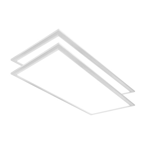 Case of 2 - 2ft x 4ft High Output LED Flat Panel - 48W - 6,378 Lumens