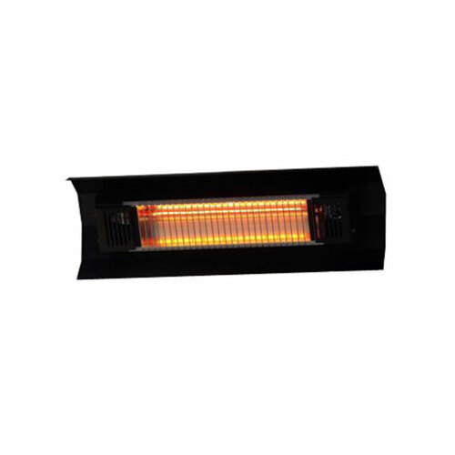 Black Steel Wall Mounted Infrared Patio Heater - Electric - 1500W