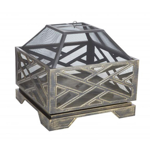 """26""""  Catalano Square Wood Burning Fire Pit"""