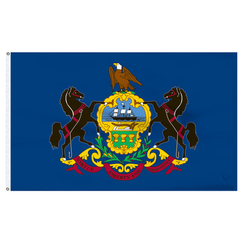 Pennsylvania Flag 4 x 6 Feet Nylon
