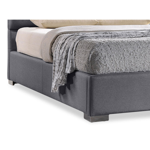 Baxton Studio Sophie Modern and Contemporary Grey Fabric Upholstered Queen Size Platform Bed