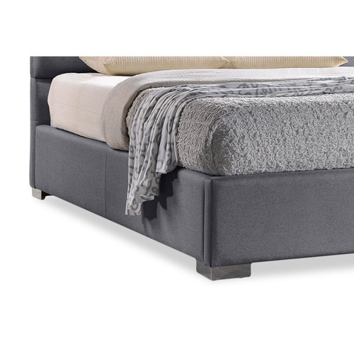 Baxton Studio Sophie Modern and Contemporary Grey Fabric Upholstered King Size Platform Bed