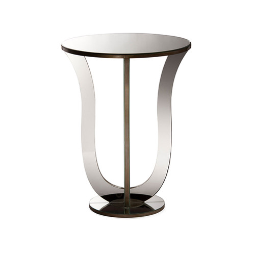 Baxton Studio Kylie Modern and Contemporary Hollywood Regency Glamour Style Mirrored Accent Side Table