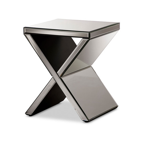 Baxton Studio Morris Modern and Contemporary Hollywood Regency Glamour Style Accent Side Table