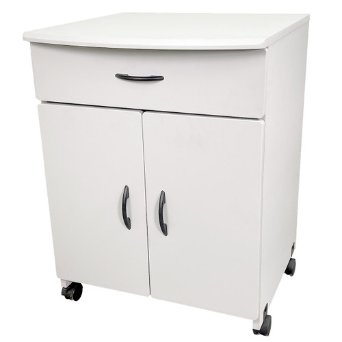 Buddy Products Gray Wood Laser Printer and Copier Stand - 31.1 x 23 x 23