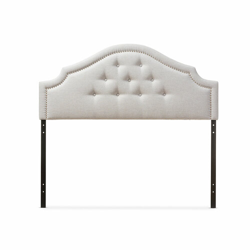 Baxton Studio Cora Modern and Contemporary Grayish Beige Fabric Upholstered Queen Size Headboard