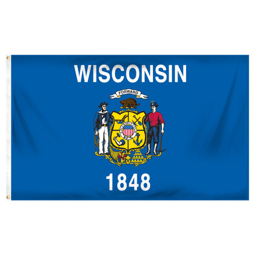 Wisconsin 3ft x 5ft Printed Polyester Flag