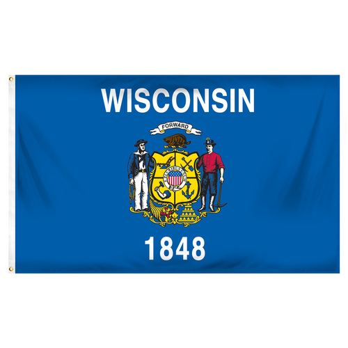 Wisconsin 5ft x 8ft Spectra Pro Flag