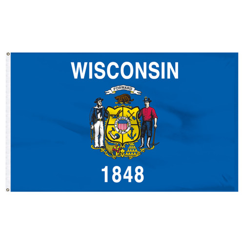 Wisconsin flag 6 x 10 feet nylon