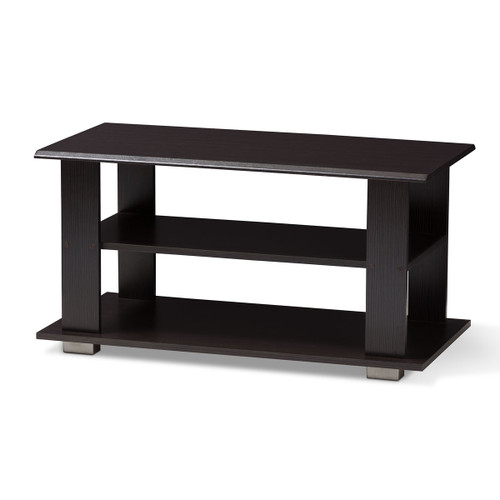 Baxton Studio Joliette Modern and Contemporary Wenge Brown Finished Coffee Table