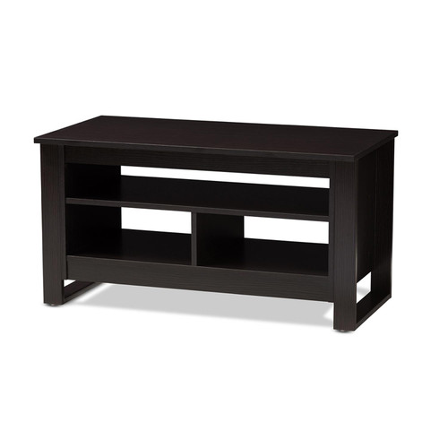 Baxton Studio Nerissa Modern and Contemporary Wenge Brown Finished Coffee Table