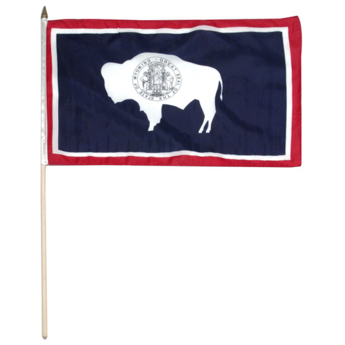 Wyoming flag 12 x 18 inch