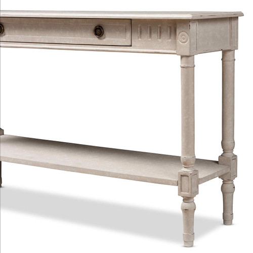 Baxton Studio Ariella Country Cottage Farmhouse  1-Drawer Console Table - Whitewashed