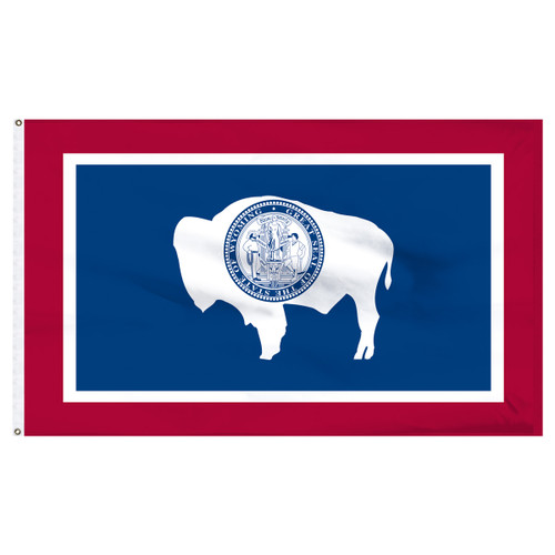 Wyoming 6 x 10 Nylon Flag